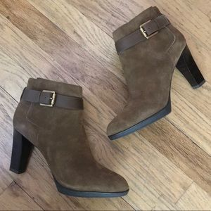 Franco Sarto Brown Suede Booties - Sz 7
